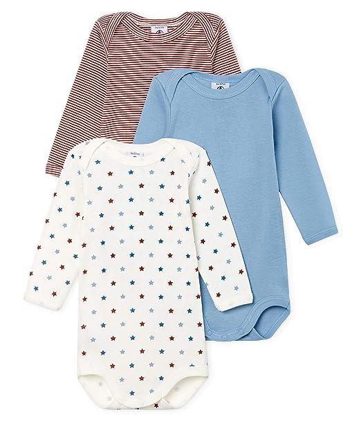 venta caliente online 6632a 2023b Petit Bateau Body Shaping (Pack de 3) para Bebés: Amazon.es ...