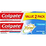 Colgate Total Toothpaste Whitening Gel, Whitening Mint 2-Pack 9.6 Ounce
