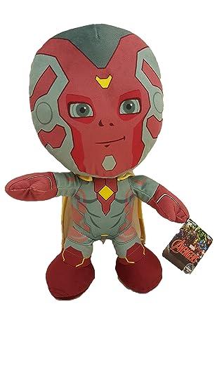 Amazon.com: Marvel Vengadores Visión de peluche 12.6 inch ...
