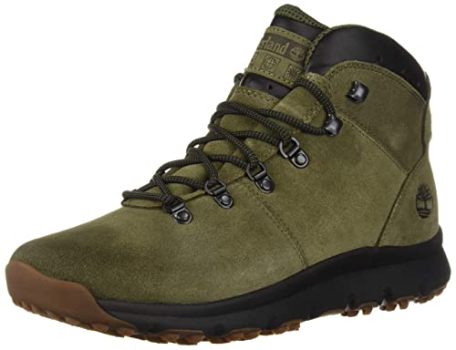 484e4be16f9 Timberland World Hiker Mid Mens Dark Olive Suede Boots-UK 7: Amazon ...