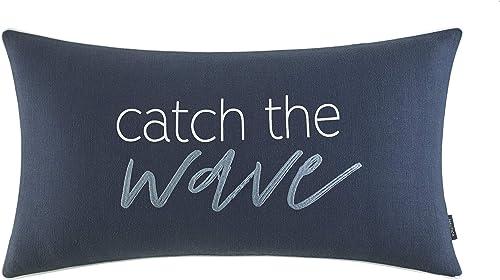 Nautica Longpoint Catch The Wave Throw Pillow, 14 x 26, Navy