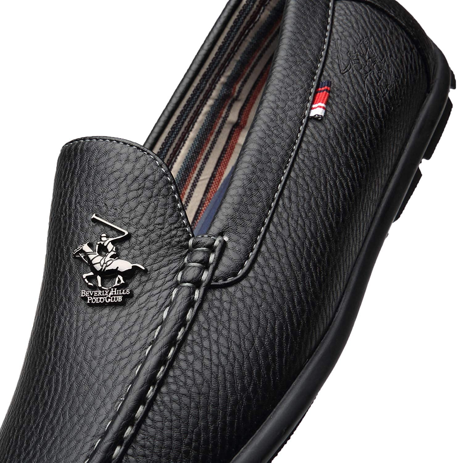 Size 12.0 Beverly Hills Polo Club Mens Driving Moccasins Slip Edwin-1-black