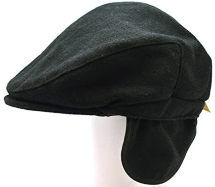 8f536de1189 Amazon.com  Dockers Men s Cabbie Drivers Cap with Ear Flaps Black S Med   Sports   Outdoors