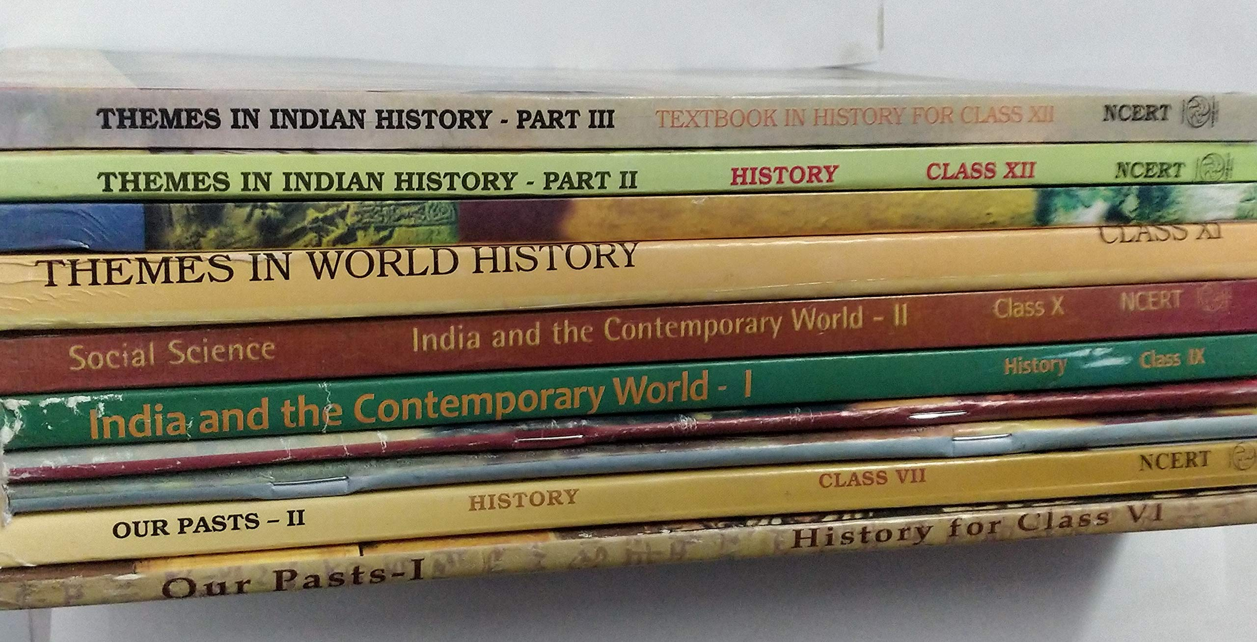 Buy NCERT History Books Set of Class - 6 TO 12 (ENGLISH MEDIUM) for UPSC Prelims / Main / IAS / Civil Services / IFS / IES / ISS / CISF /
