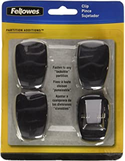 Fellowes(R) Partitions Additions™ Panel Accessories, Spring Clip, Pack Of 4