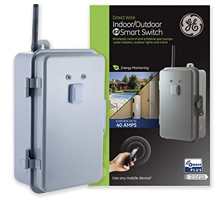 ge enbrighten z-wave plus heavy duty 40 amp smart switch, indoor/outdoor