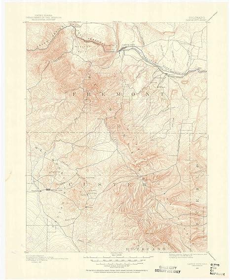 Amazon.com : YellowMaps Canon City CO topo map, 1:125000 Scale, 30 on
