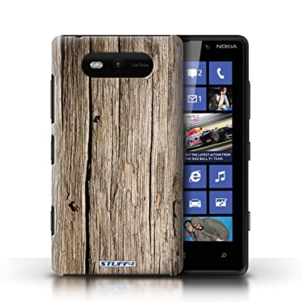 newest collection 24b7f a5c9f Protective Hard backed Case / Cover for Nokia Lumia 820   Driftwood Design    Wood Grain Effect/Pattern Collection
