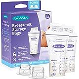 Lansinoh - Bolsas de almacenamiento para leche materna, 50 Count + 2 Pump Adapters