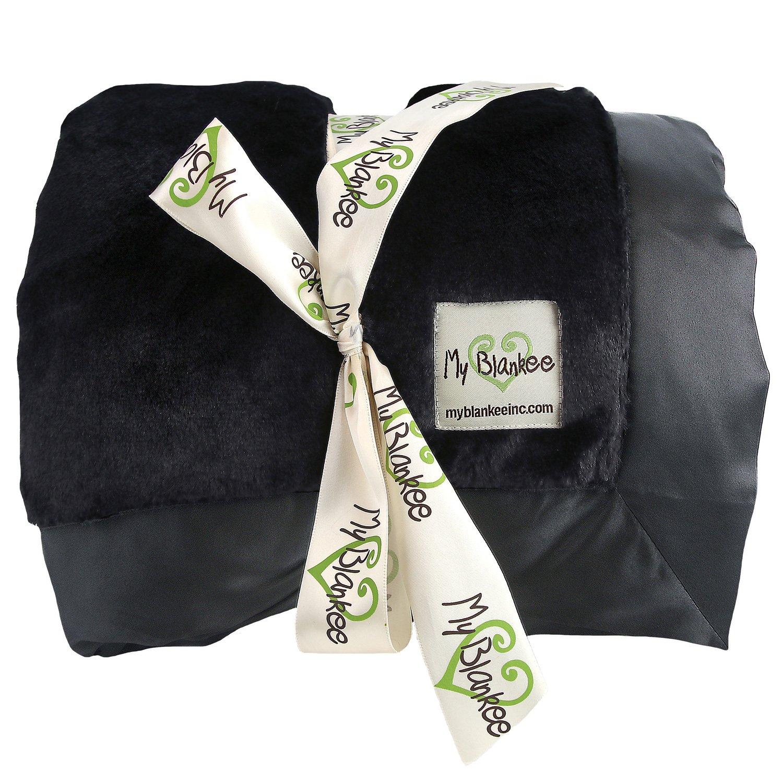 My Blankee Luxe Throw Blanket, Black, 52'' X 60''