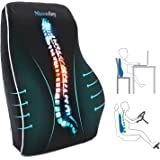 Lumbar Support Pillow for Office Chair Car Lumbar Pillow Lower Back Pain Relief Memory Foam Back Cushion with 3D Mesh Cover G