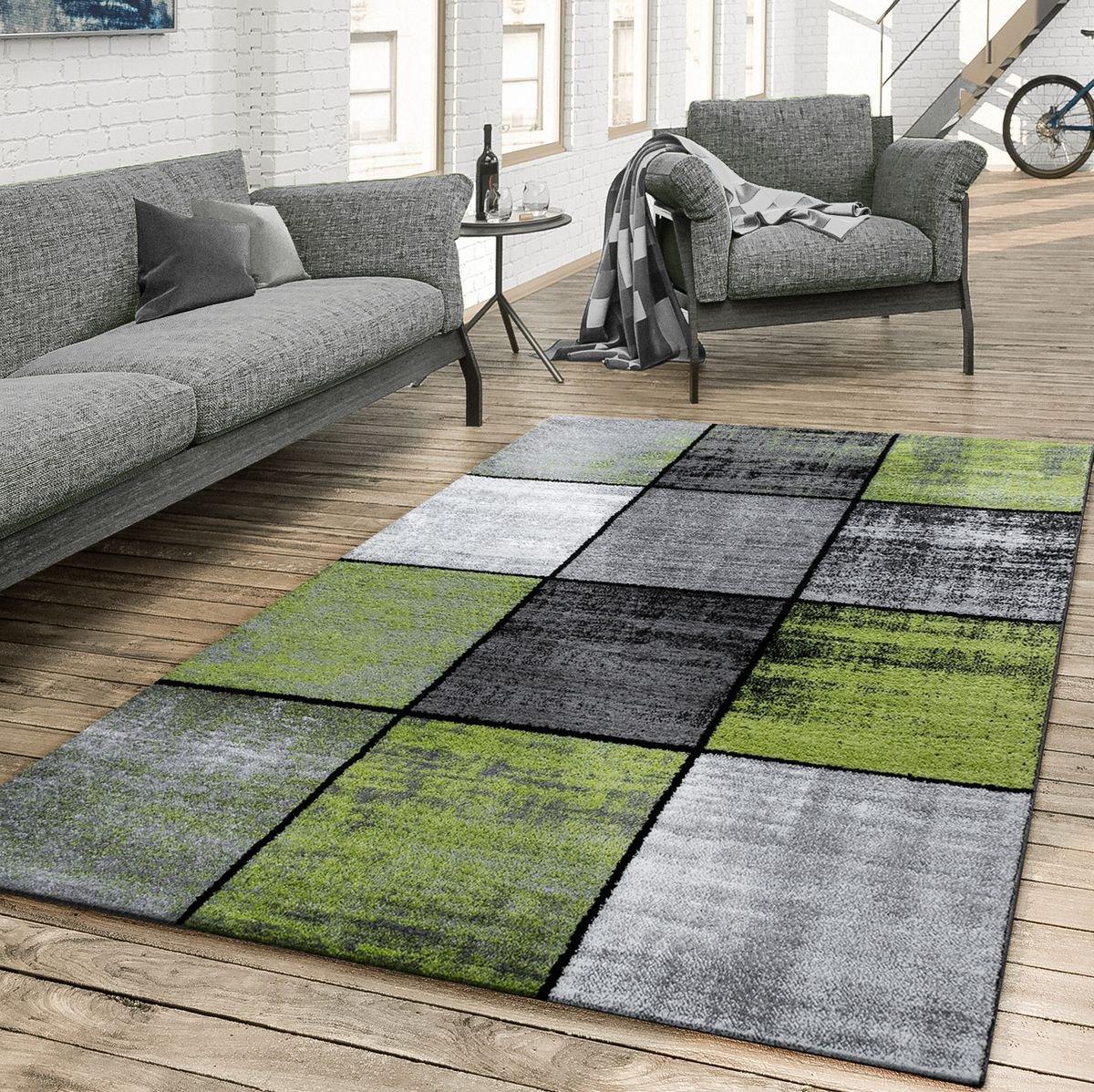 T T Design Teppich Wohnzimmer Kariert Modern Kariert Wohnzimmer