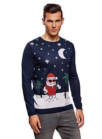 luxuriant dans la conception vente la plus chaude moins cher oodji Ultra Homme Pull de Noël Tricoté