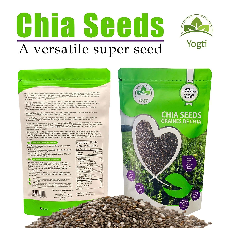 Semillas de Yogti Chia, marca canadiense: Amazon.com ...