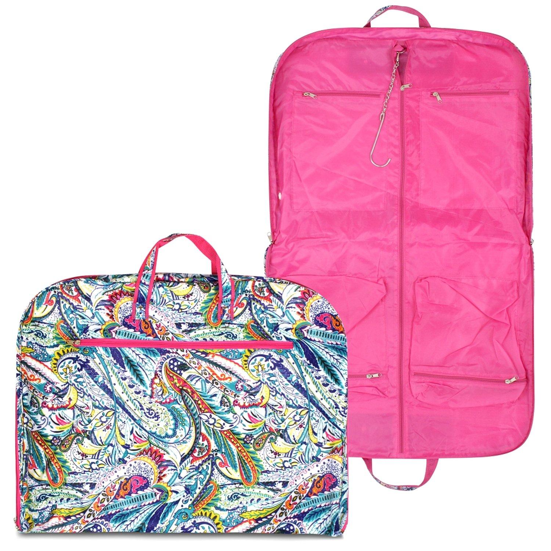 Zodaca Multicolor Paisley Garment Hanging Bag