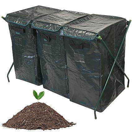300L Garden Tacho de basura de Eco amigable orgánico Compost suelo conversor de almacenamiento residuos reciclaje