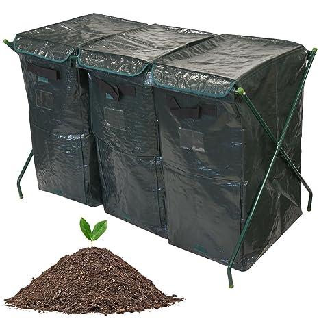 Compostiera Per Giardino Da 300 L, Biocomposter Per Compost Organico, Sacco  Contenitore Per Compostaggio