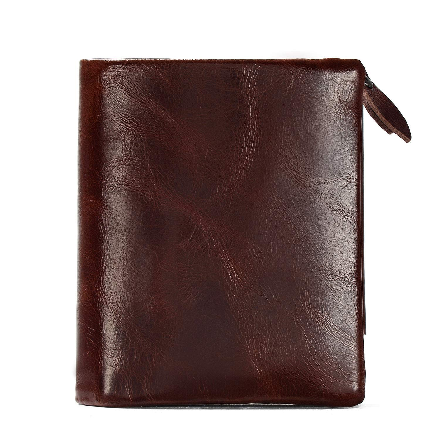 Color : Camel KRPENRIO Blocking Bifold Genuine Leather Minimalist Front Pocket Wallets for Men with Money Clip