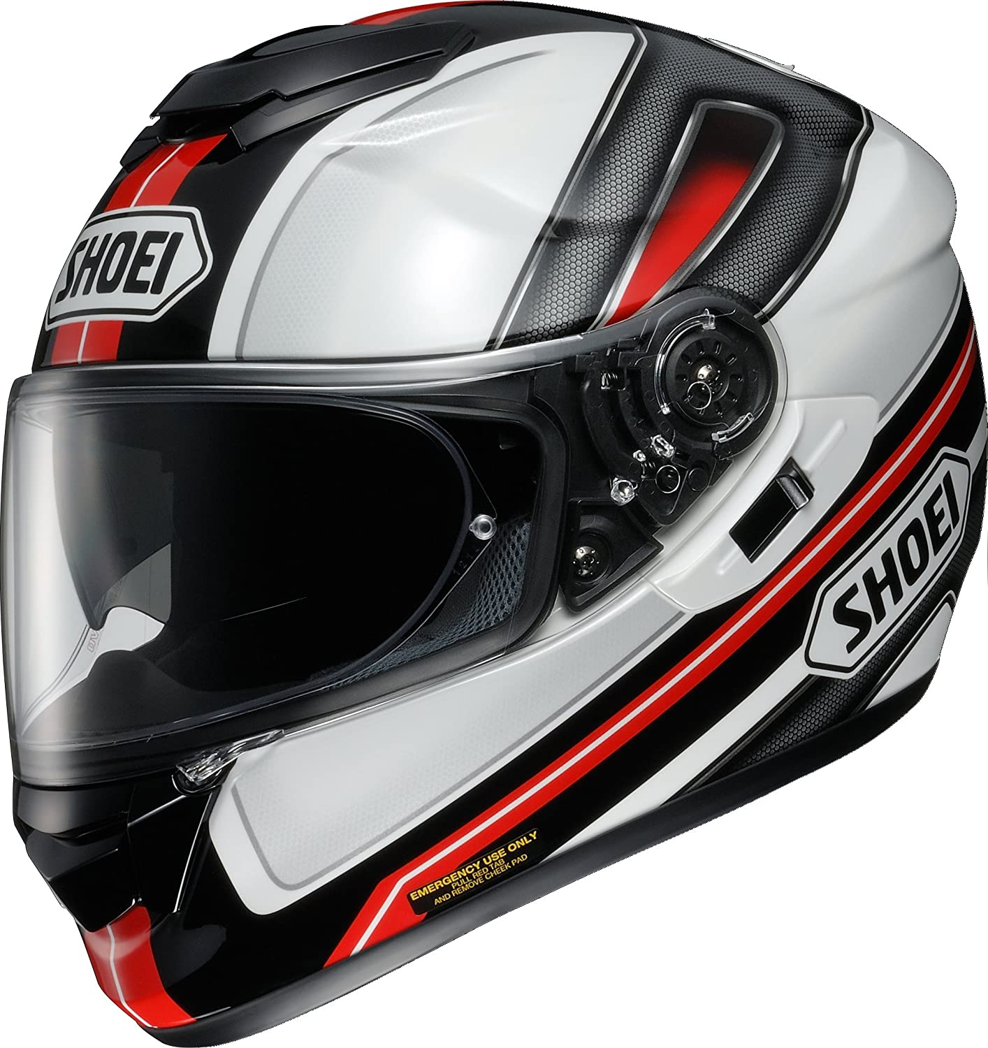 Amazon.com: Shoei helmet GT-Air DAUNTLESS (Dauntless) TC-1 (RED / WHITE) L (59cm) -: Automotive