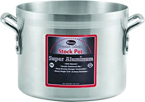 Winco USA Super Aluminum Stock Pot, Heavy Weight, 10 Quart, Aluminum