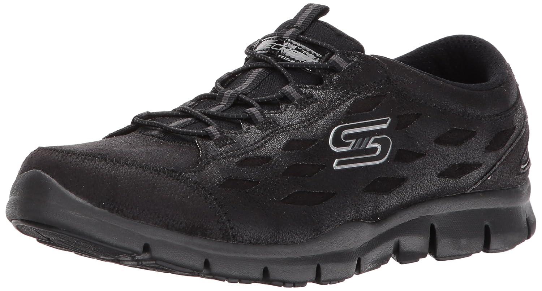 Skechers Women's Gratis Simply Serene Wide Fashion Sneaker B06WVL7GSJ 5.5 W US|Black