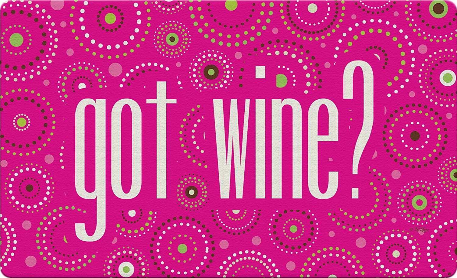 """Toland Home Garden 830342 Dot Wine- Pink 18"""" x 30""""  Recycled Mat, USA Produced"""