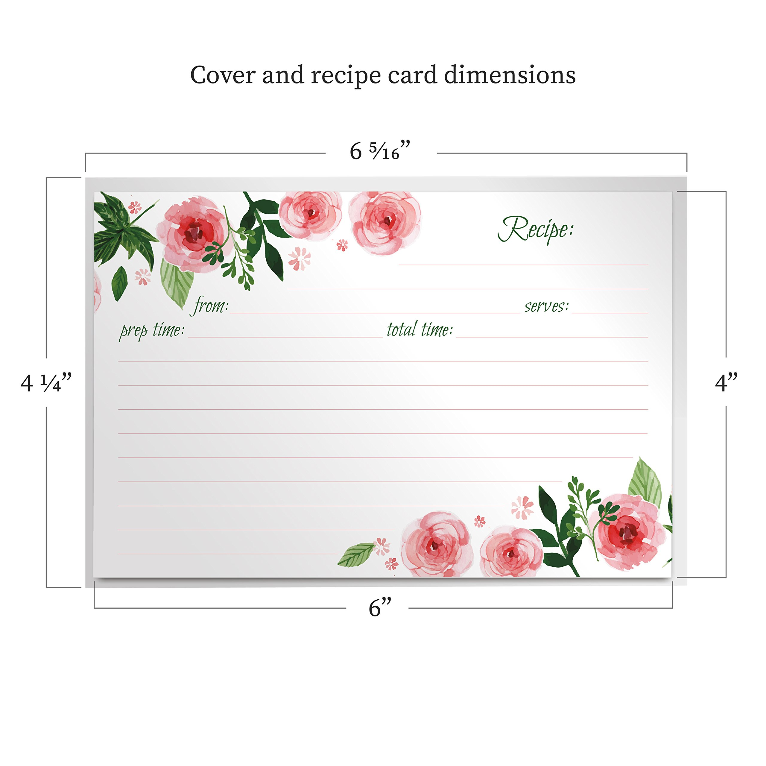 Jot & Mark Recipe Card Protectors 4'' x 6'' Crystal Clear | Protect Your Recipes From Kitchen Messes | 100 Covers Per Pack by Jot & Mark