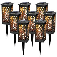 8 Pack Solar Path Lights Outdoor, LED Solar Garden Stake Lights Auto On/Off Waterproof, Decorative Landscape Lighting…
