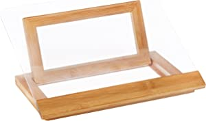 "Lipper International 8815 Bamboo Wood and Acrylic Cookbook Holder, 12-1/2"" x 9-1/4"" x 6-3/4"""