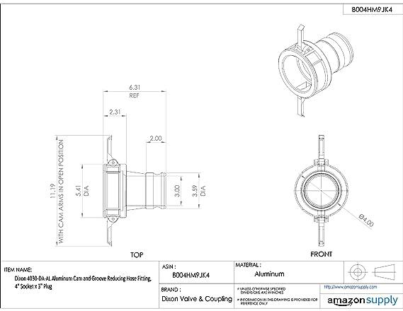 dixon 1520 da al aluminum cam and groove reducing hose fitting 1 1 Cam Lock Pipe Clamp dixon 1520 da al aluminum cam and groove reducing hose fitting 1 1 2 socket x 2 plug camlock hose fittings amazon industrial scientific