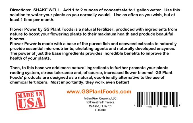 GS Plant Foods flor poder All Natural Super Bloom Booster 32 ...