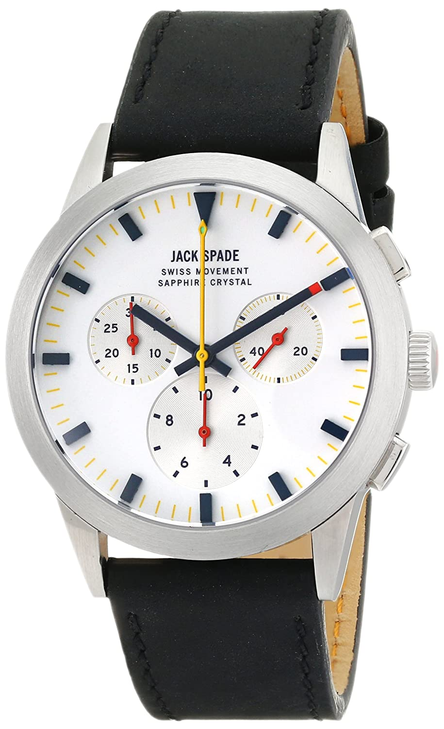 Jack Spaten Herren wuru0106 Barrett Analog Display Swiss Quartz Black Watch