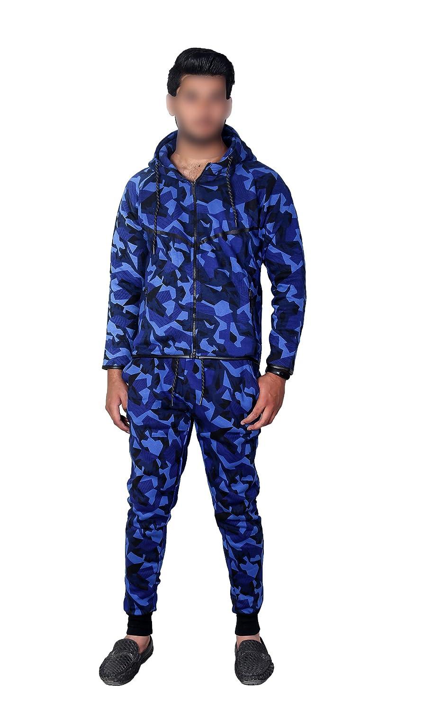 MyMixTrendz Kinder Armee Jungen Camouflage Design Camo GirlsTracksuit Hoodie Reißverschluss Jogger 2 Stück Designer Anzug MMT