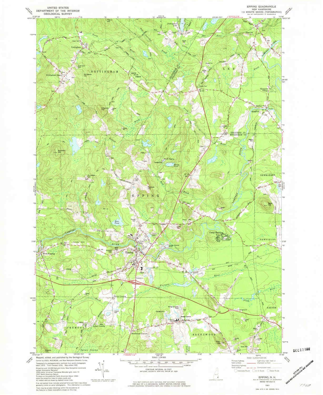 Amazon.com : YellowMaps Epping NH topo map, 1:24000 Scale ... on