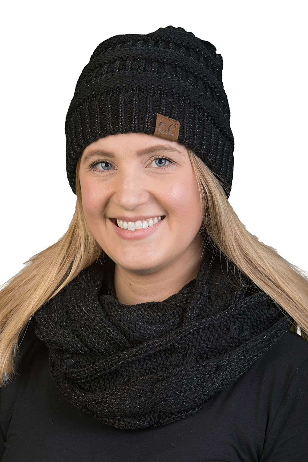 9a7ef19c976 aHS-6800-816.07 Regular Slouchy Beanie Matching Scarf Set Bundle - Brown  4 21 at Amazon Women s Clothing store