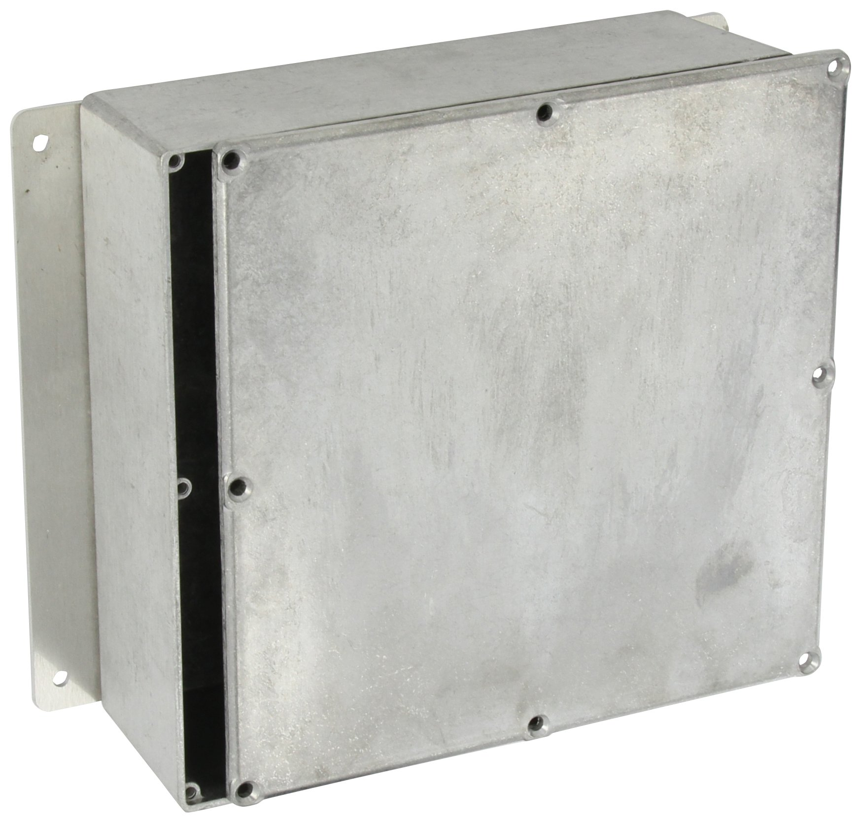 BUD Industries CU-4478 Die Cast Aluminum Econobox with Mounting Bracket, 7-1/2'' Length x 7-1/2'' Width x 2-39/64'' Height, Natural Finish