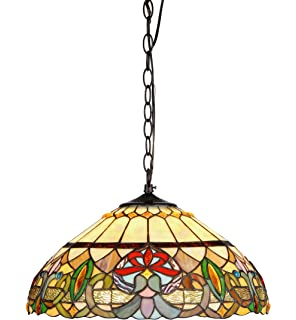 Chloe Lighting CH33360VR18 DH2 Hester Tiffany Style Victorian 2 Light  Ceiling Pendant Fixture With 18