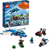 LEGO 60208 City Police Sky Police Parachute Arrest Playset, Toy Jet and Buggy Car, Police Toys for Kids