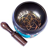 Tibetan Singing Bowl Set - Pretty and Small Authentic Handcrafted For Mindfulness Meditation Sound Chakra Holistic…