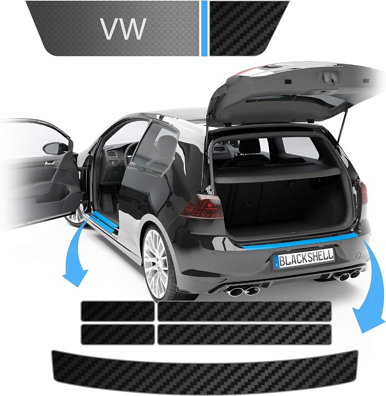 Blackshell Ladekantenschutz Und Einstiegsleisten Folie Inkl Premium Rakel Passend Für Tiguan Typ Ad1 Bj Ab 2016 Carbon Matt Passgenaue Lackschutzfolie Auto