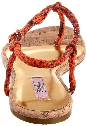 c6465f00e2f029 Ted Baker Ajania Womens Orange Leather Thongs Sandals Shoes Size 3 UK   Amazon.co.uk  Shoes   Bags