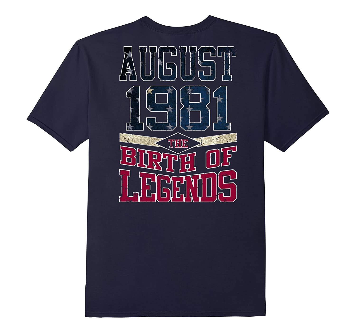 Legends Are Born In August 1981 Gift 36 Years Old Backside-Art