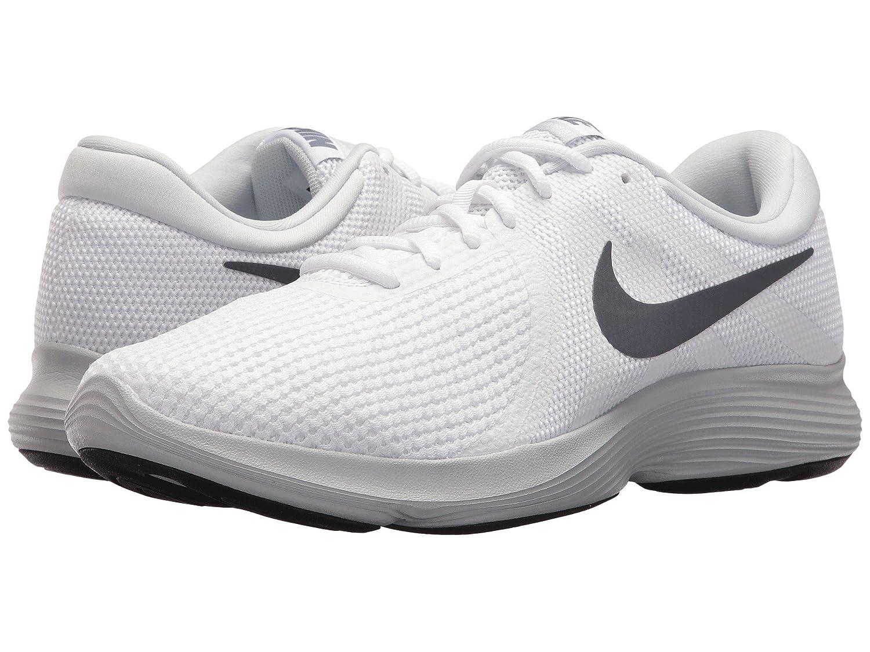 NIKE Men's Revolution 4 Running Shoe B07146QB4L 9 D(M) US|White/ Light Carbon-pure Platinum