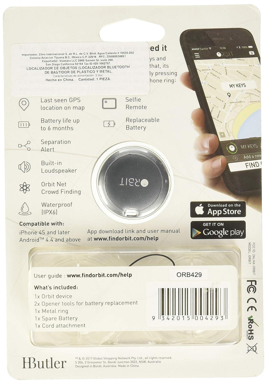 Hbutler Orbit - Buscador de Llaves, Color Plateado: Amazon ...