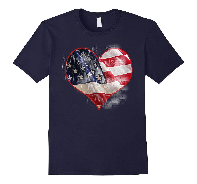 American Flag Labor Day Veterans Day T-Shirt-Art