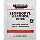 """MG Chemicals - 824-WX50 99.9% Isopropyl Alcohol Handy Wipe, 6"""" Length x 5"""" Width (Bag of 50)"""