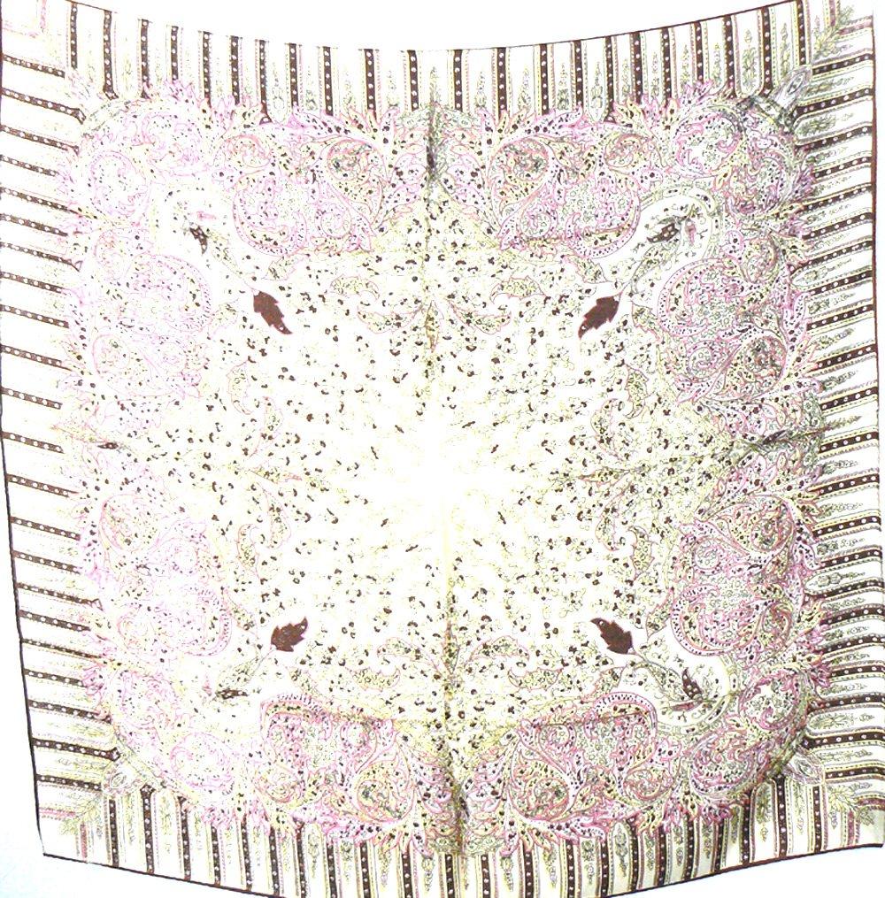 Jingjingart Brand New 100% Jacqard Charmeuse Silk Scarf Shawl Wrap Purple