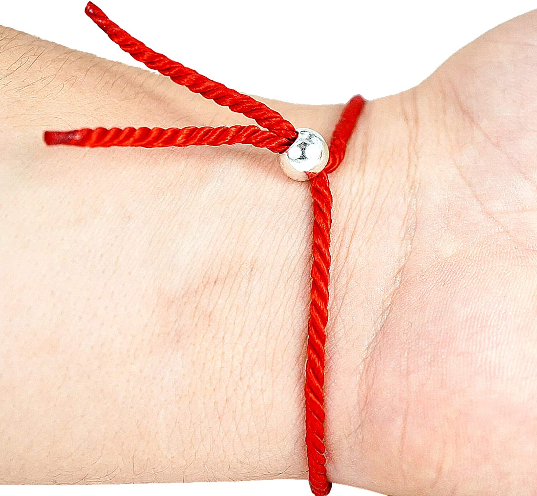 HAND-PRO Pulsera roja Mal de Ojo Pulsera Mal de Ojo roja Pulsera Hilo Trenzado Pulsera de la Suerte y protecci/ón Amuleto para el Mal de Ojo Pulsera Hilo Rojo