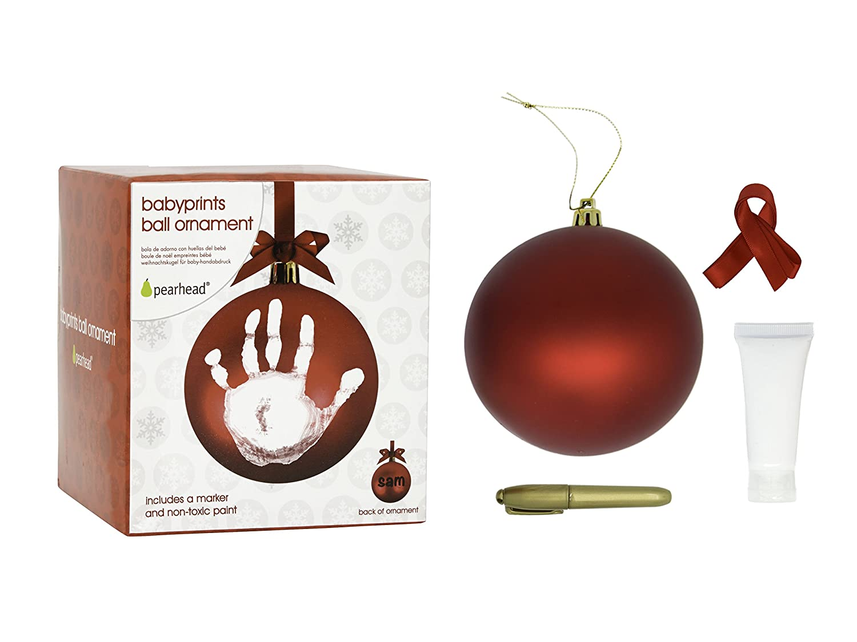 Amazon.com : Pearhead Babyprints DIY Handprint or Footprint Holiday ...