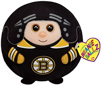 e299282282b Image Unavailable. Image not available for. Color  TY Beanie Ballz Boston  Bruins Plush